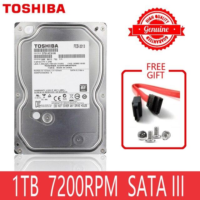 "TOSHIBA 1 TB ฮาร์ดดิสก์ไดรฟ์ 1000GB ภายใน 1 TB HD ฮาร์ดดิสก์ 7200 รอบต่อนาที 32M Cache 3.5 ""35 SATA III สำหรับเดสก์ท็อปพีซีคอมพิวเตอร์"