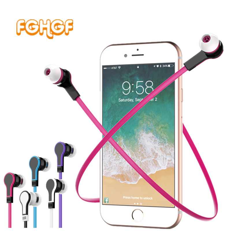 FGHGF Original Earphone 3.5MM Stereo Earbuds Noodles In-ear Earphone With Microphone For Samsung iPhone se
