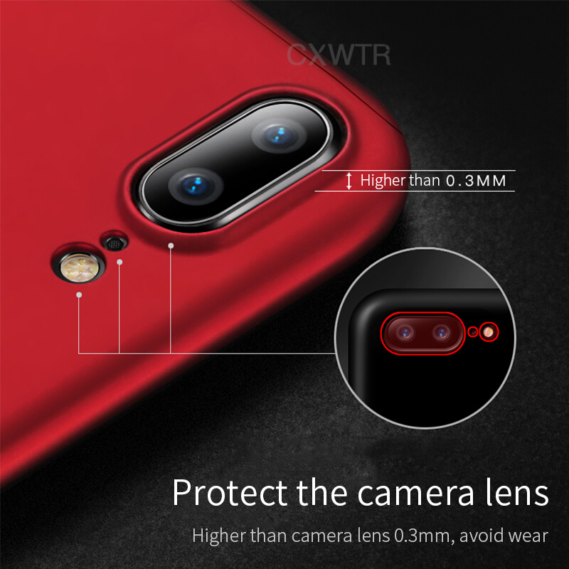 360 Degree Full Cover Phone Case For Apple iPhone X 7 8 Plus 6 6s Protective Cases For iPhone 5 5s SE 6 6s Plus 7 8 X With glass