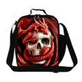 Skull Lunch Cooler bags for Children School Insulated food bag for boys Adults Lunch Box Conatainer lunch bag for teenager girls
