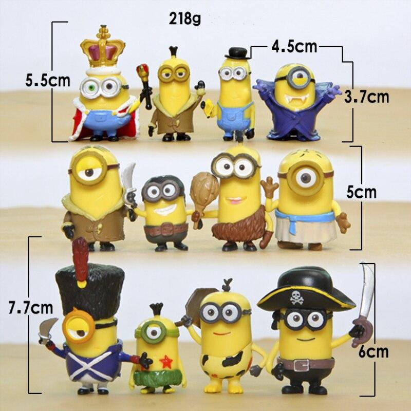Image 2 - 12pcs Mini Despicable Me Minion Action Figures Minions PVC Toys Anime Figurines Movie Model Toy Gift for KidsBlocks   -