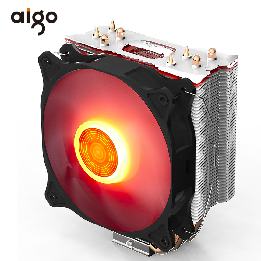 Aigo E4 4 Copper Heatpipes PC CPU Cooler Radiator For Intel AMD CPU Cooling Fan 120mm Water Cooler Liquid Cooling Ventilador CPU compute fan cpu cooling fan blueled light freezer water liquid cooling system cpu cooler fluid dynamic bearing for computer