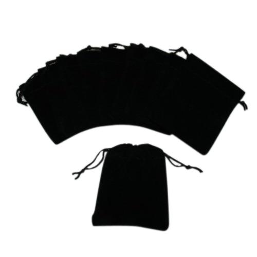 Маленькие черные бархатные мешочки с завязками black pouch black velvet pouchsmall velvet pouches   АлиЭкспресс