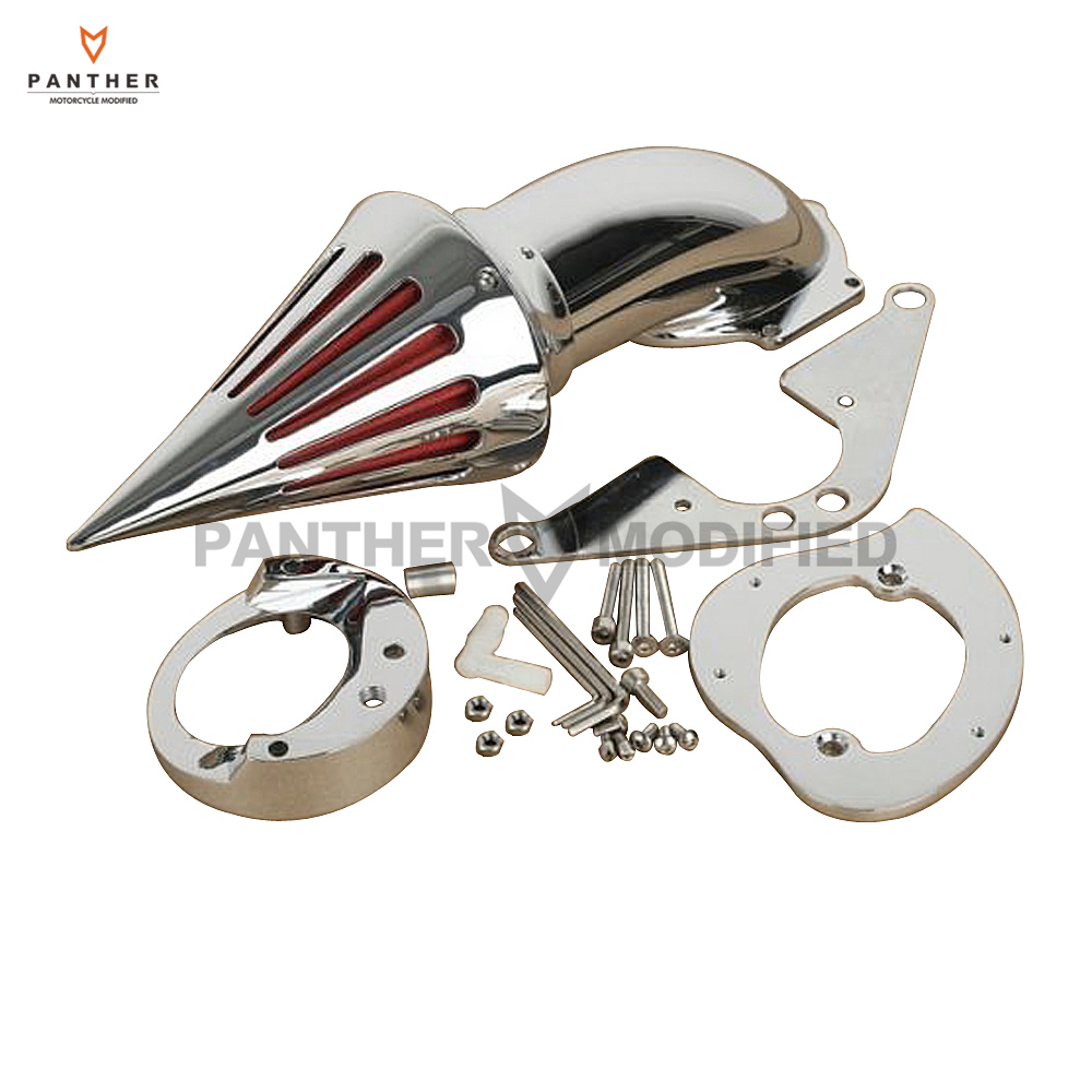 Chrome Aluminum Motorcycle Spike Air Cleaner Intake Filter case for Yamaha Road Star 1600 1700 1999 2000 2001 2002 2003 2004 -Up motorcycle parts spike air cleaner filter for yamaha v star 1100 dragstar xvs1100 1999 2012 chrome