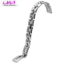 Correa accesorios reloj de acero mesa de cuarzo 10 mm moda para mujer tira llevada plana sección general