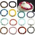 New 1 Pc  Natural Stone Unisex Fashion Lava Turquoise Beads Buddha Bracelet Jewelry Elastic
