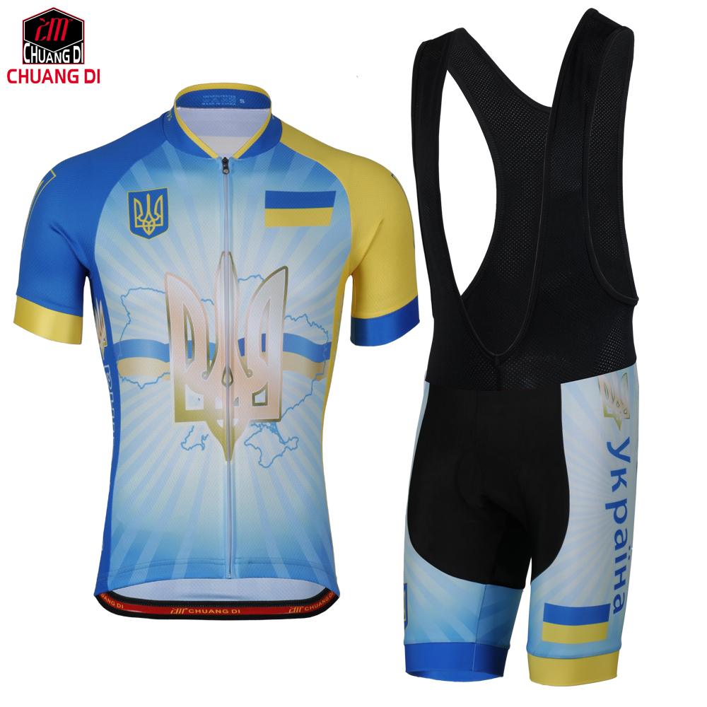 ZM Ukraine Flag Cycling Jersey for Men and Women Mountain Bicycle Bike Clothing Sportswear Sport Jerseys Cycling National flag Cycling Sets     - title=