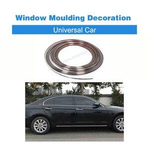 Universele Auto 3 m PVC Chrome Auto Body Kit Side Rok Venster Moulding Decoratie Trim Strip 6 8 10 15 18 20 22 28mm(China)