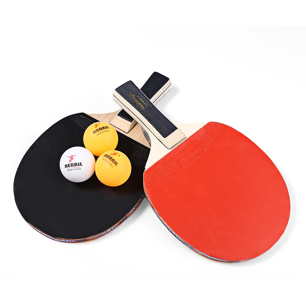 1pair long handle table tennis paddle ping pong racket two side rubber 7 layers wood long pad. Black Bedroom Furniture Sets. Home Design Ideas