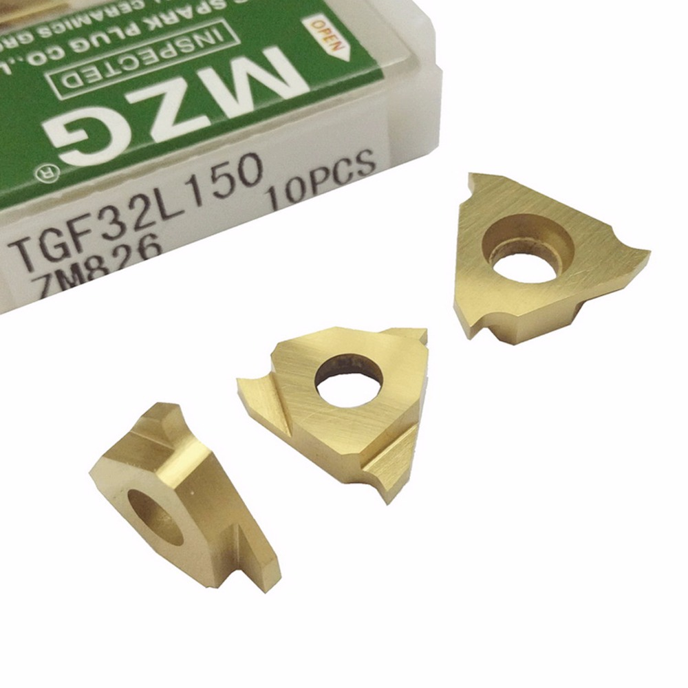 MZG Triangle TGF32L050 TGF32L075 ZM826 CNC Lathe Cutting Tools Stainless Steel Shallow Grooving Cutter Solid Carbide Inserts mgehr 1010 1 5 10 10 100mm external grooving lathe cutting tool holder