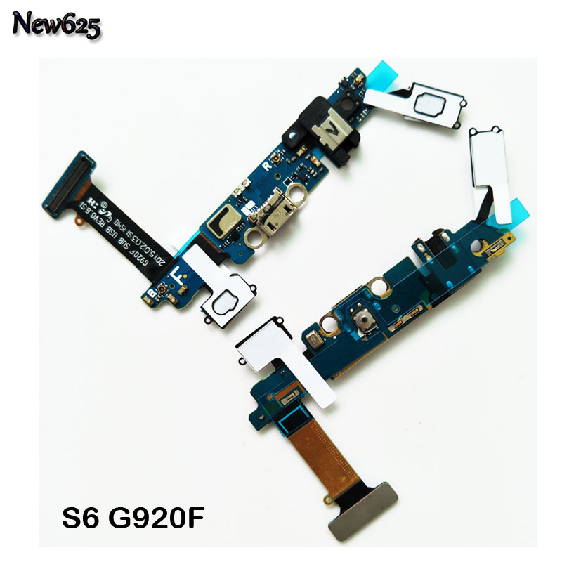 New Dock Connector Charger <font><b>Board</b></font> USB Charging Port Audio Jack Flex Cable Ribbon For <font><b>Samsung</b></font> <font><b>Galaxy</b></font> <font><b>S6</b></font> G9200 G920i G920F image