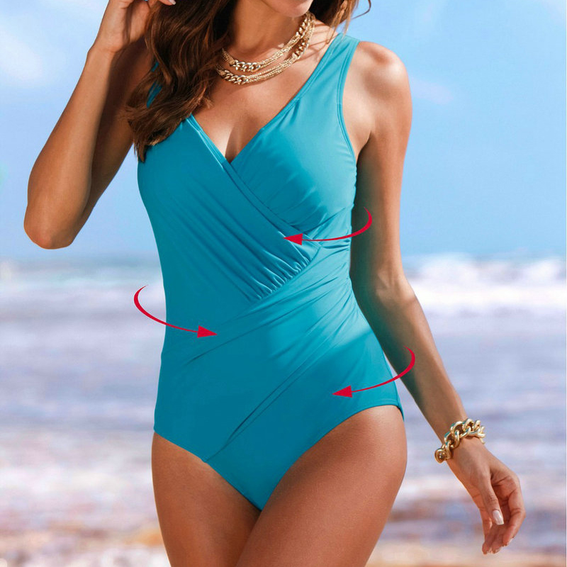 2017 New large Plus size 4XL Bikini Brazilian One Piece high waist Swimsuits Sexy Swimwear Women Charming Push Up Bathing Suits 2017 new sexy one piece swimsuit strappy biquini high waist one piece swimwear women bodysuit plus size bathing suits monokinis