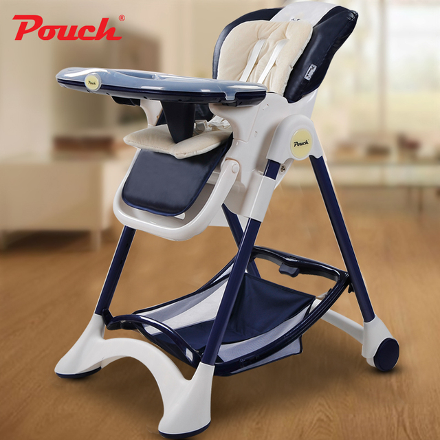 Fold baby feed chair, PP material plate baby highchair, portable dining table, height can adjust baby feed chair with two tray