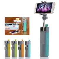 Hot Portable Outdoor Wireless Bluetooth Speaker With Selfie Stick Power Bank Mini Travel Speaker Loudspeaker TF