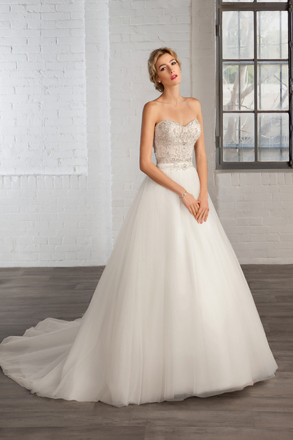 Hot Sale brasil Allure una línea de vestidos de novia sin mangas con ...