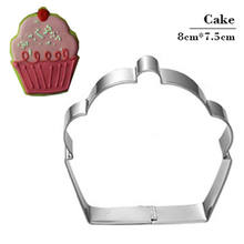 Cupcake Shape Biscuit Cookie Cutter Tools Stamp Mold Stainless Steel Pastry Cutter Toy Kitchen Chinese Cheap Things Fondant