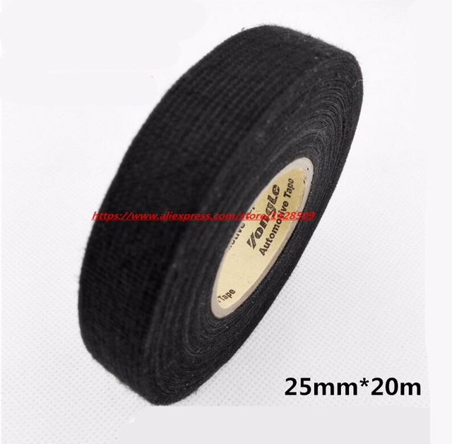 25mmx20m Universal Flannel fabric Cloth Tape automotive wiring harness Black Flannel Car Anti Rattle Self Adhesive_640x640 aliexpress com buy 25mmx20m universal flannel fabric cloth tape automotive wire harness tape at bakdesigns.co