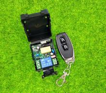 AC 220 v 1 ch draadloze afstandsbediening licht schakelaar ontvanger zender fan/licht RF relais schakelaar 433mhz