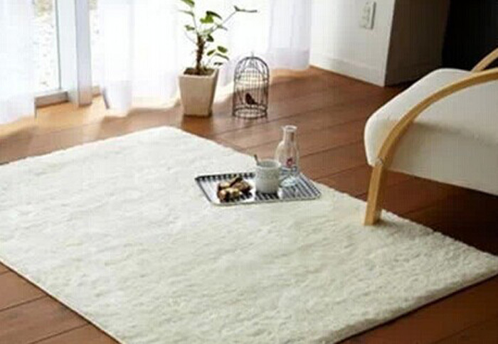 Free shipping super soft solid color rice white carpet - White living room rug ...