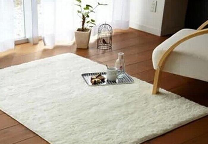 Gratis verzending super zachte effen kleur rijst wit tapijt/vloer ...
