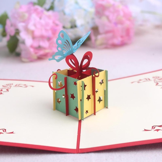 3d pop up butterfly paper card postcards greeting card decoration 3d pop up butterfly paper card postcards greeting card decoration kids birthday cartoon gift free shipping m4hsunfo