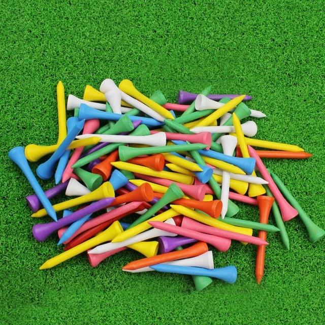 CRESTGOLF 2-1/8 Inches 54mm Wooden Golf Tees Golf Wood Tees 100pcs/pack