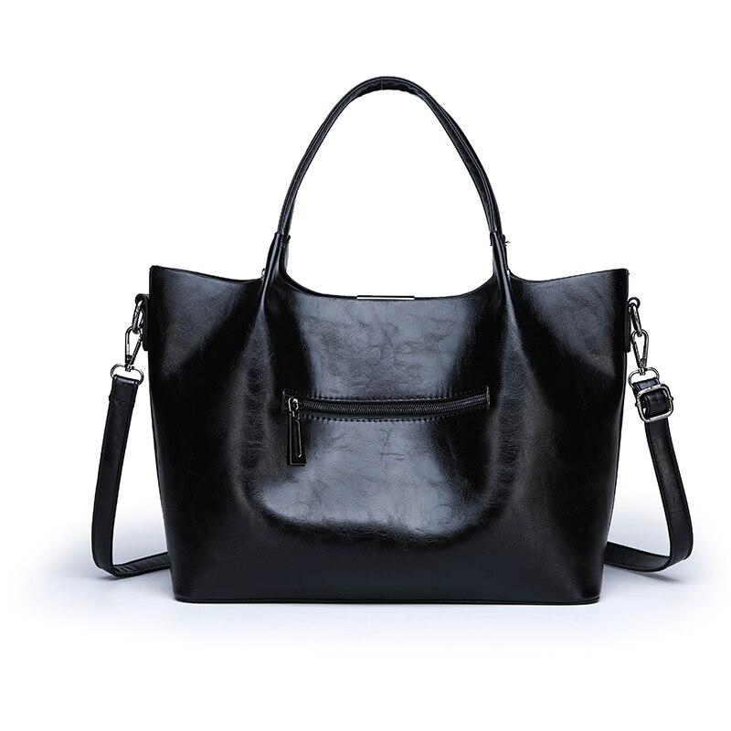 2019 Summer new style Women Bag Handbag Tote Over Shoulder Crossbody Leather Big Brand Black Brown Casual Designer Female Bolsas