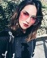HBK Mujeres Ronda de Doble Haz gafas de Sol Hombres lente Transparente Gafas Vintage UV400 Eyewear 2017 gafas de sol feminino