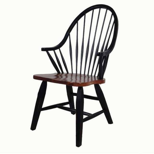 Мебель Из Массива Дуба Деревянные Старинные Виндзор Стулья для Столовой Rooom, ресторан, Кафе Античный Деревянный Обеденный Кресло Дизайн