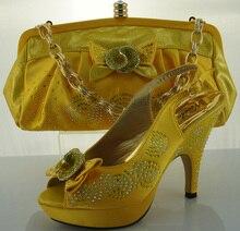 Schuhe Und Passende Tasche Mit Strass Für Party Hohe Qualität African Italienische Schuhe Und Tasche Zusammenpassende ME2206