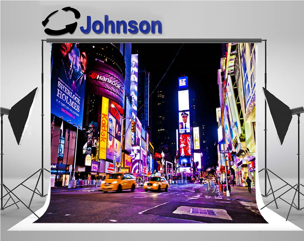New York City night times square backdrop Vinyl cloth High quality Computer print party background