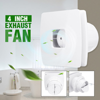 4 inch Air Vents Booster Blower Inline Ducted Fans Ceiling Ventilation Pipe Exhausted Extractor Fan Bathroom Kitchen Ventilator