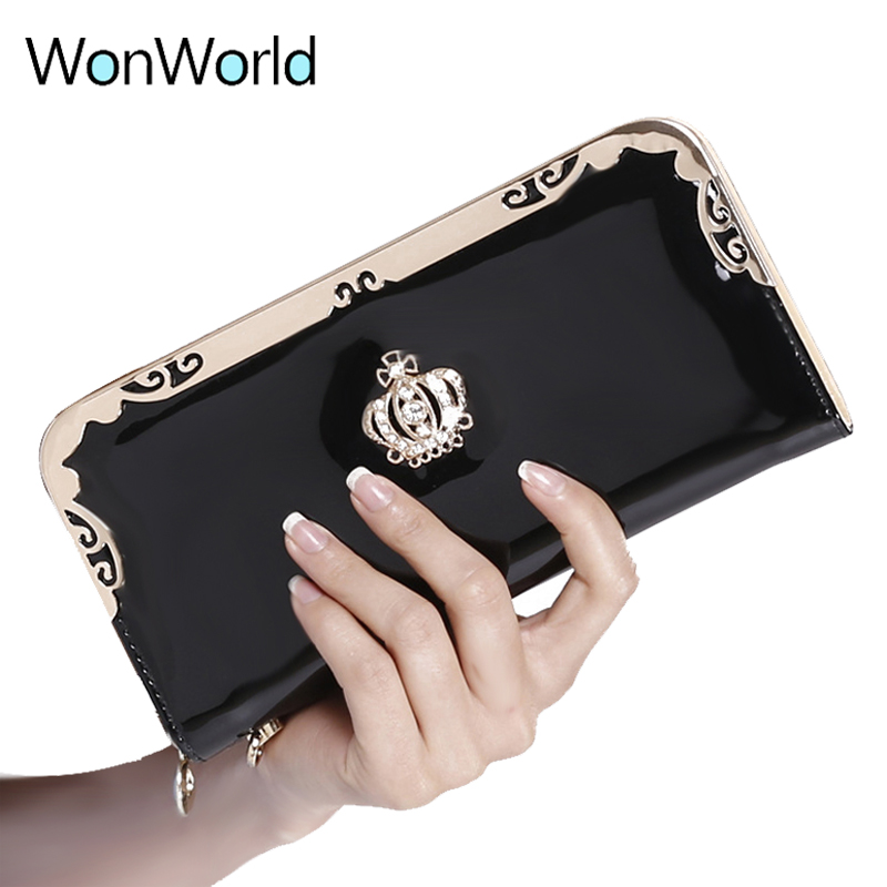 Luxury Women Wallets female long zipper coin purse large capacity ID Card holder wallets purse brand New Lady phone clutch Bolsa wallets men brand baellerry large capacity 16 card position credit card holder long zipper coin purse money bag purse cartera