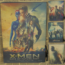 X -Men poster Marvel superhero science fiction film bar decorative painting retro wall sticker kraft paper