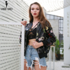 Missord 2018 Fashion Autumn And Winter Women S Outerwear Embroidered Flowers Sequin Jackets Baseball Wear Coat