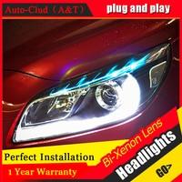 Auto Clud Car Styling For Chevrolet Malibu Headlights Malibu LED Headlight DRL Lens Double Beam H7