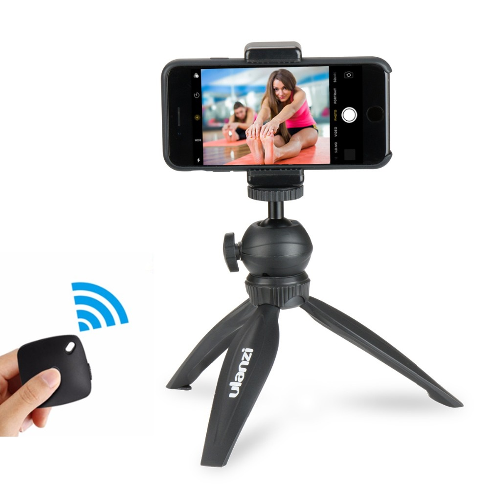Ulanzi Smartphone Tripod w Telefon Tripod Mount Clamp Kit, Fleksibel Mini Tripod til iPhone X 8 Vlogging Youtube Live Streaming