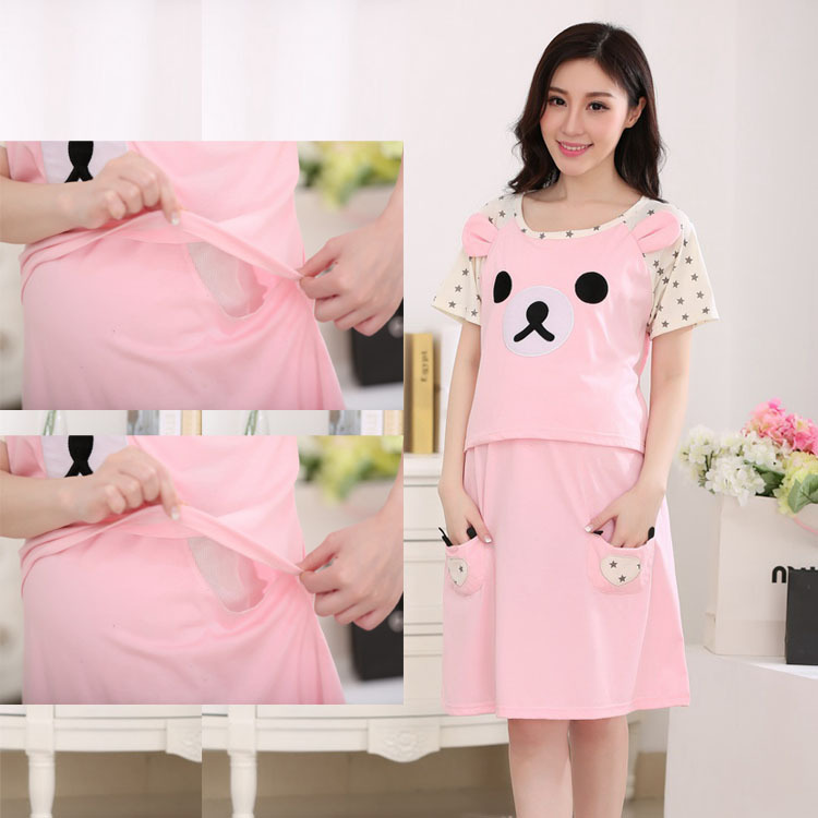 bae6ec3ac الحمل فستان رضاعة الملابس الرضاعة الطبيعية للنساء الحوامل ملابس أمومة  ارتداء لتغذية حامل؛ حبلى الصيف الساخن بيع