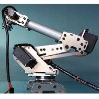6 DOF CNC aluminum robotic arm frame ABB industrial robot model 6 asix robot arm MG996R MG90S