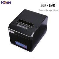 HOIN HOP-E801 USB/Bluetooth/WiFi termal makbuz yazıcı hızlı hızlı POS yazıcı Android iOS Windows için