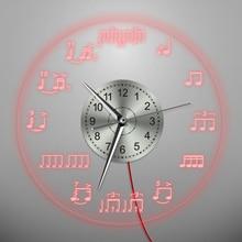 1 шт ноты светодиодный освещения настенные часы домашнего декора скрипичный ключ музыкант музыкальные ноты стены висит декоративного освещения