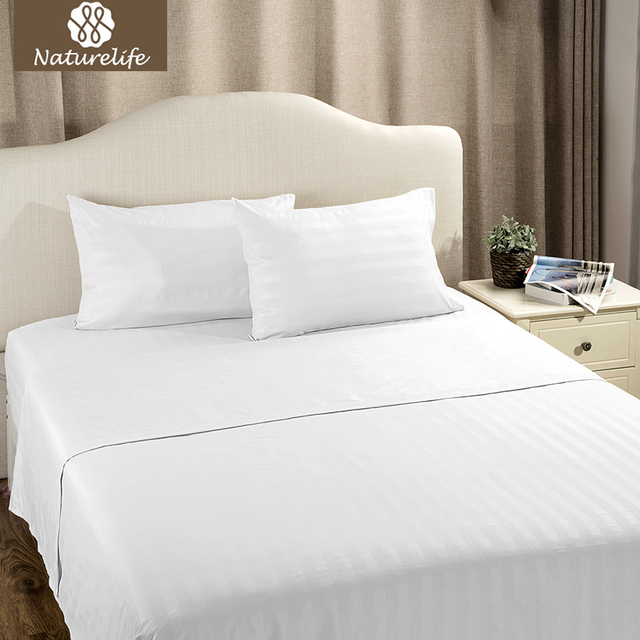 Naturelife White Plaid Sheet Set Bedspread Bedsheet Pillowcase Quilted  Bedding Lightweight Soft Smooth Coverlet Sets 3