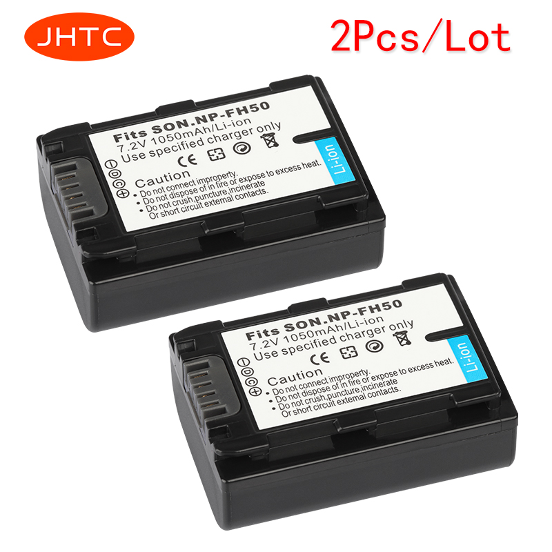 JHTC 2Pcs/lot1050mAh Battery for Sony NP-FH50 NP-FH40 NP-FH30 NP-FH60 NP-FH70For Alpha DSLR A230 A330 A380 DSC-HX1 HX200 HDR jhtc 2pcs lot1050mah battery for sony np fh50 np fh40 np fh30 np fh60 np fh70for alpha dslr a230 a330 a380 dsc hx1 hx200 hdr