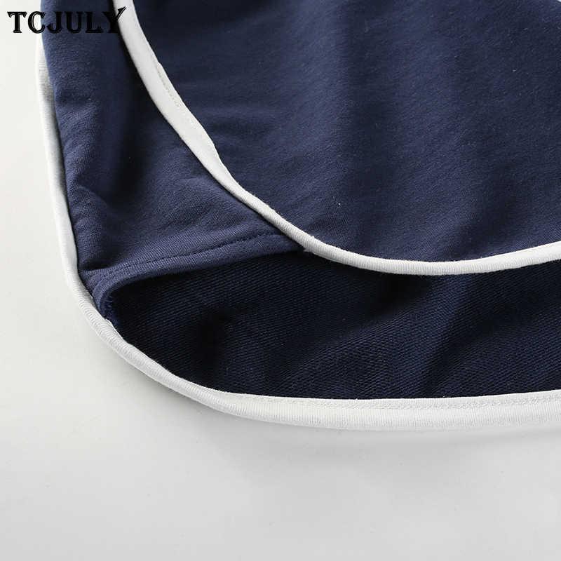 TCJULY Europa Amerikaanse Hot Koop Hoge Taille Shorts Trekkoord Patchwork Stretching Streetwear Korte Broek Push Up Vrouwelijke Shorts