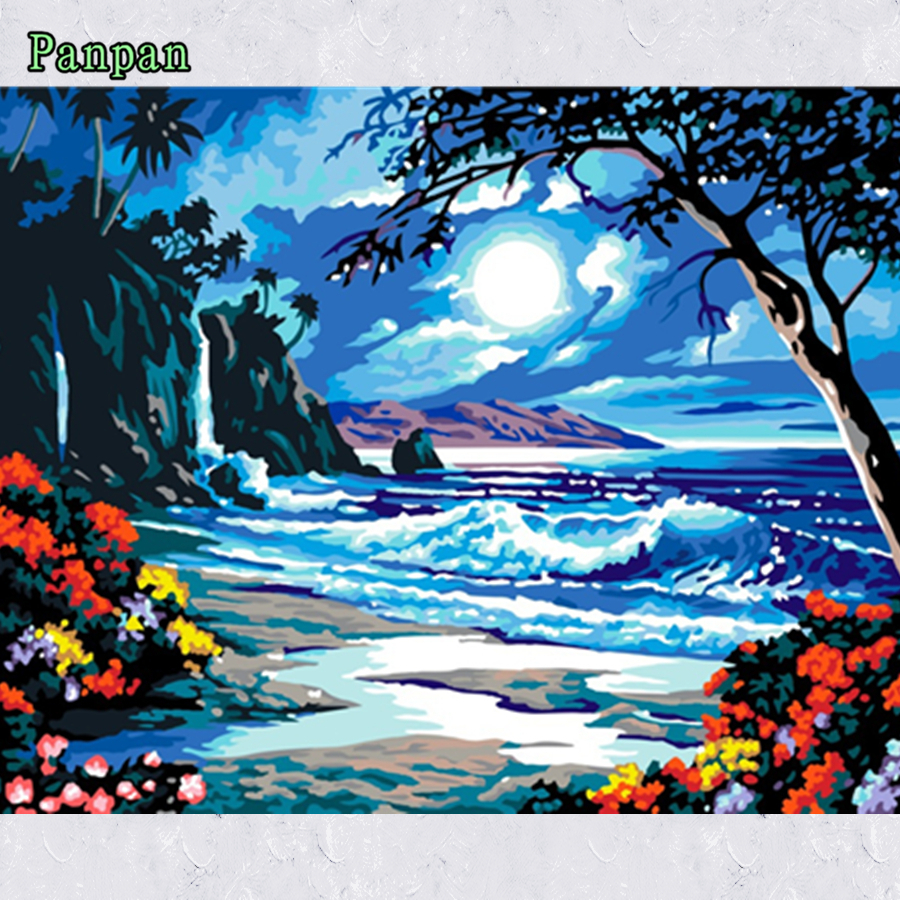 Frameless Picture DIY Digital Oil Painting by Numbers Coloring Kits ...
