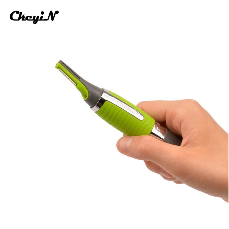 Nose Ear Face Hair Trimmer Longer Blade Removal Clipper Shaver With LED Light For Men And Women cortapelos nariz Wholesale ckeyin portable washable female shaver nose ear hair clipper trimer dry wet use electric face hair removal for leg underarm