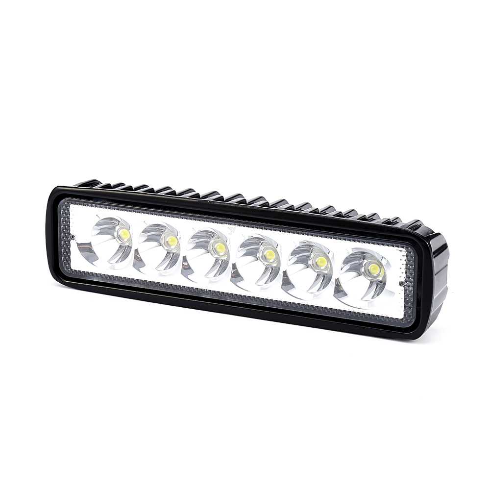 New 18W 12V LED Work Light Bar Spotlight Flood Lamp Driving Fog Offroad LED Work Car Lights for Jeep Toyota SUV 4WD Boat Truck
