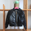 wholesale(5pcs/lot)-2016 spring zipper Rivet leather jacket for age 2-7 child girl