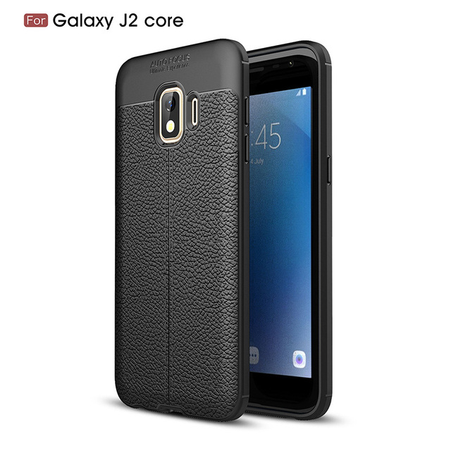 09a6b5a599b Litchi silicone case for samsung galaxy j2 core funda carcasas hoesje  lychee leather tpu cover coque etui kryt tok husa