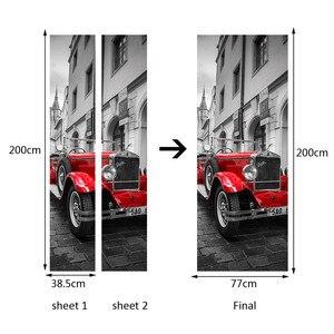 Image 4 - Londres britânica cabine de telefone vermelho esportes carro grande ben porta clássica adesivo diy mural decoração casa cartaz pvc adesivo à prova dwaterproof água